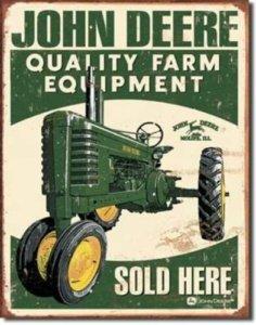 Deere Every Farming Job tin sign