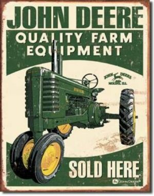 Deere Every Farming Job tin sign
