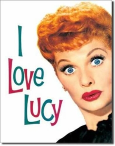 Lucy Lucy Lucy tin sign