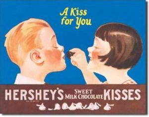 Hershey's Kisses for you tin sign