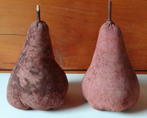 Primitive Hand crafted Fabric Pears