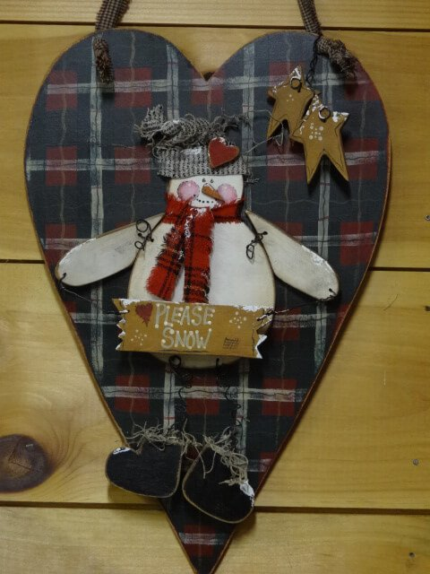 Snowman Country Wall Hanger