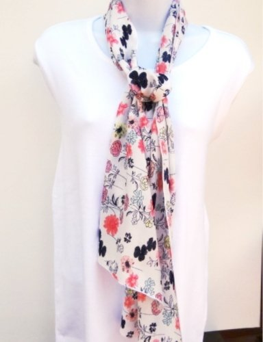 Simply Floral Sheer Scarf