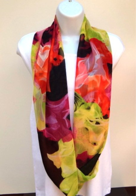 Infinity scarf bright colored