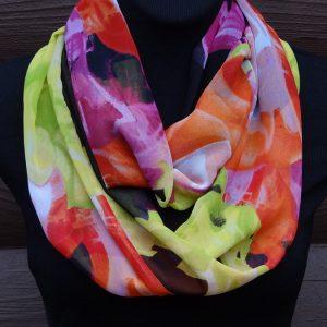 Infinity scarf bright multi colored