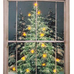 Lit Canvas Glistening Pine