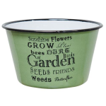 Green Grow Garden Enamel Bowl