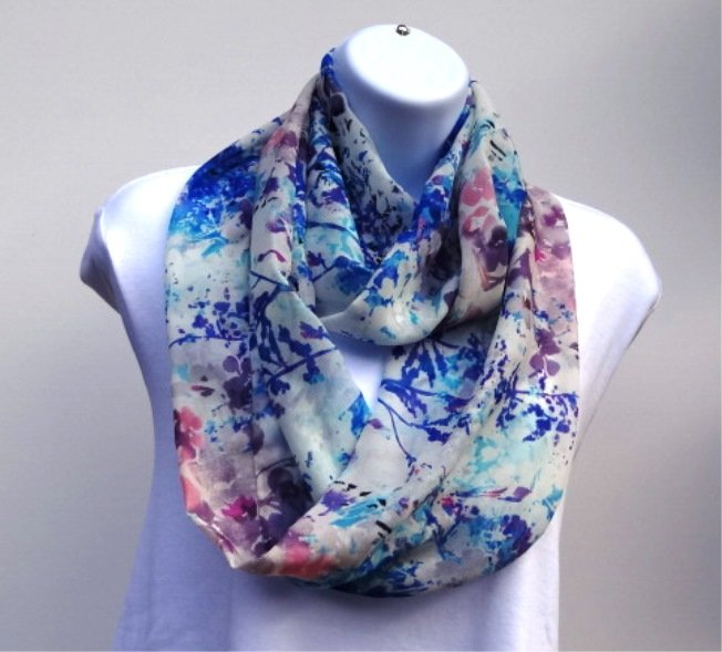 Summer Infinity scarf cool blue