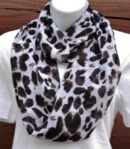 Infinity scarf animal print