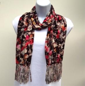 Jersey knit scarf