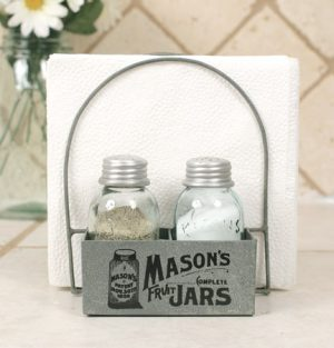 Mason Jar Salt Pepper Napkin Caddy