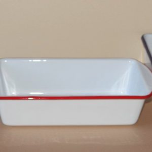 Vintage white loaf pan
