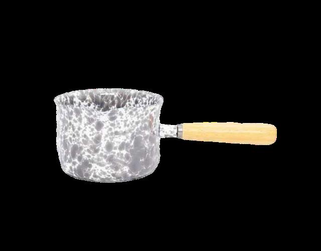 Grey marble enamel pan