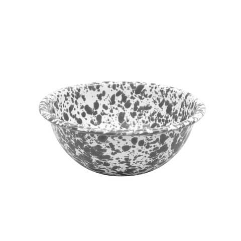 Splatterware enamel serving bowl