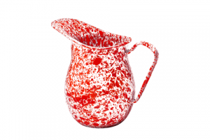 Large enamel pitcher