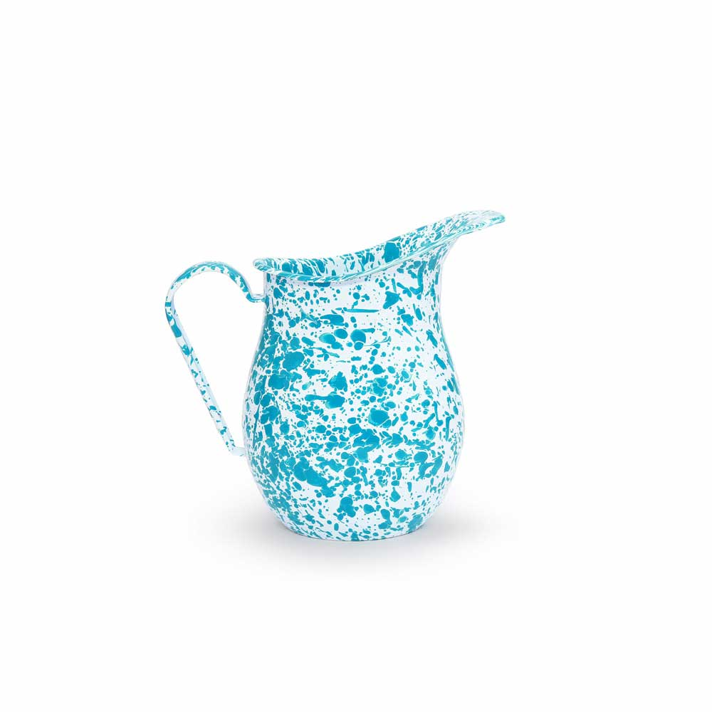 Teal Water Pitcher