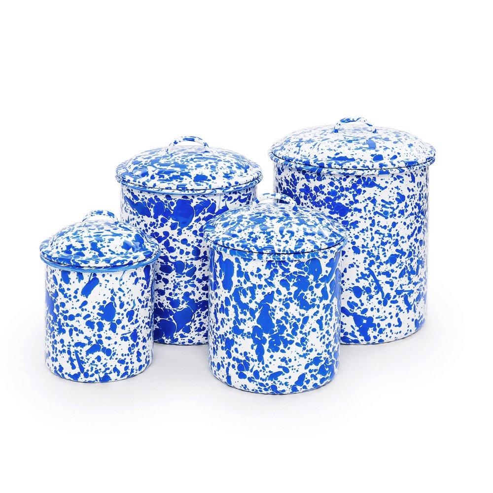 Marbled canister set