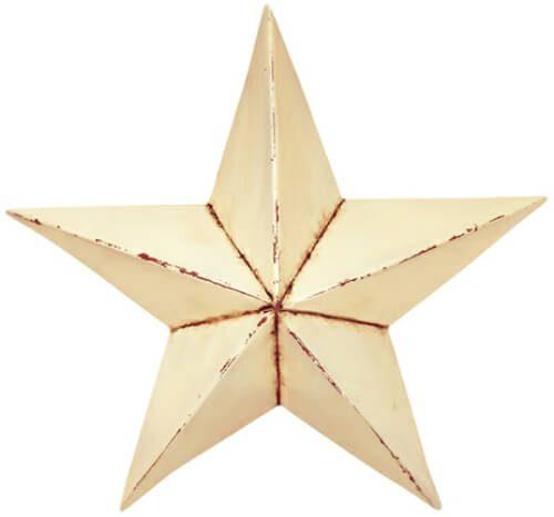 Antique white barn star