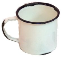 mini distressed enamel mug