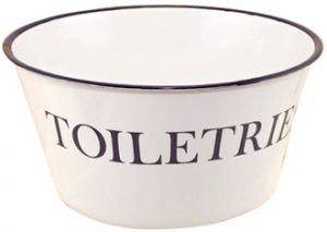 Enamel Toiletries Bowl