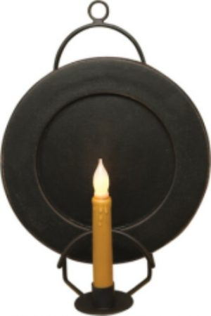 Metal plate and candle holder