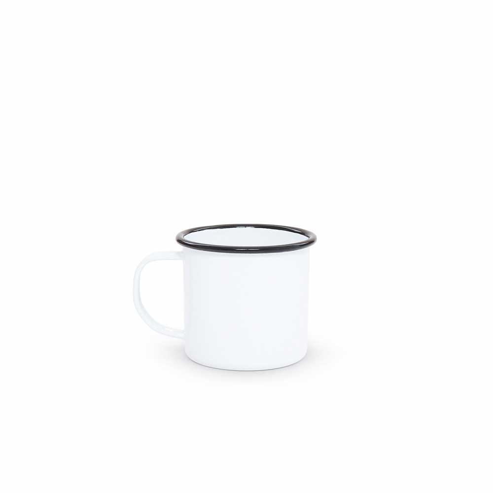 Vintage white enamel 12 ounce mug