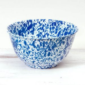 Large splatter ware salad bowl