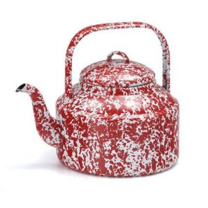 Tea Kettle enamel splatterware