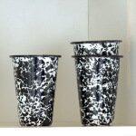 Enamel tumbler 14 ounce splatterware marbled