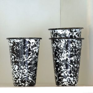 Enamel tumbler 14 ounce splatterware marbled