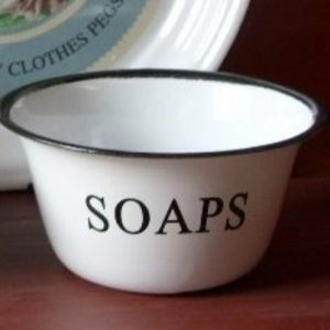 Enamel soap bowl