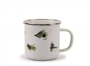Enamelware fly fishing mug