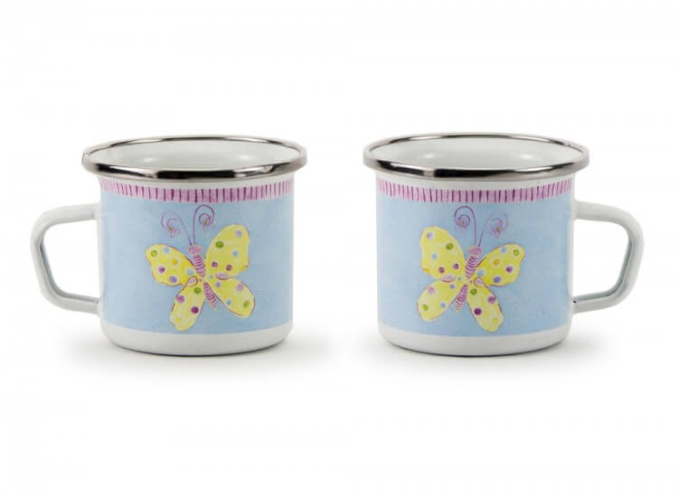 Butterfly enamel child's mug
