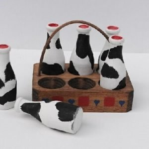Mini milk craft hand painted in USA