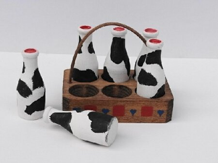 Mini milk craft hand painted in USA
