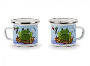 Enamel frog mug
