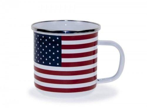 Stars & stripes enamelware mug