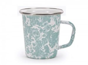 Sea Glass enamelware late mug