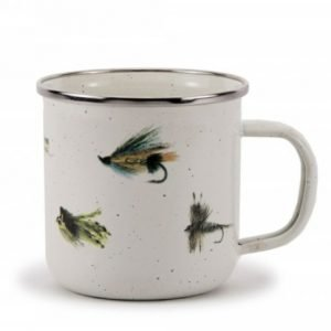Fish fly enamel mug