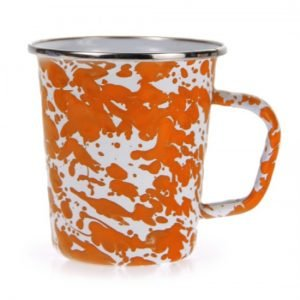 Orange swirl late mug
