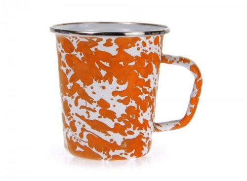 Orange swirl late mug