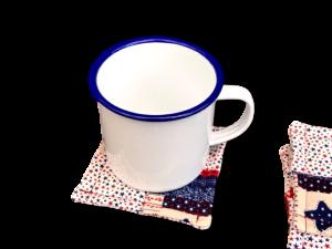 Americana large coaster with jumbo mug