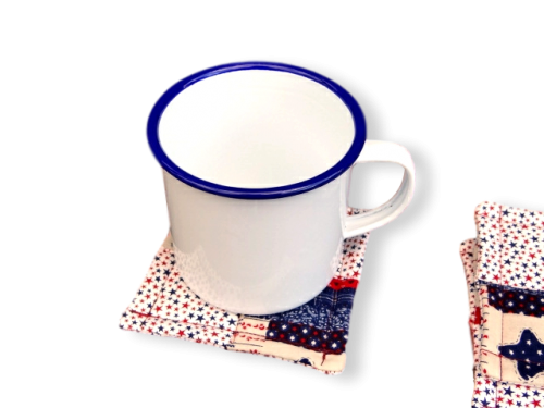 Americana large coaster with jumbo mug