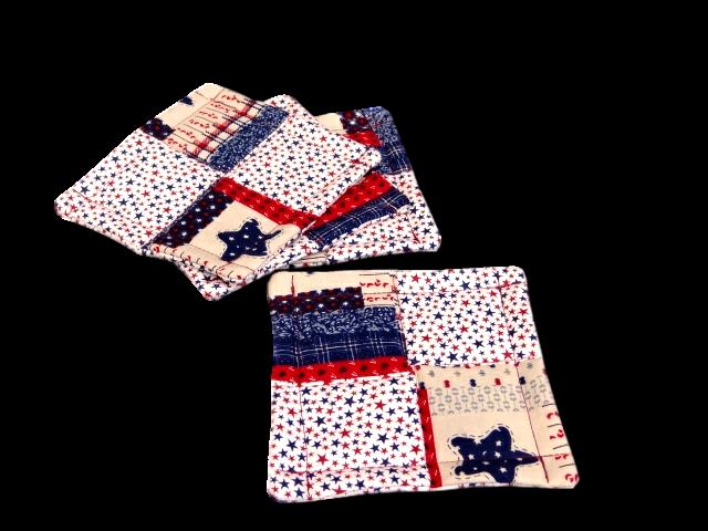 Americana fabric coasters
