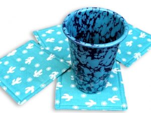 Southwestern fabric coaster set
