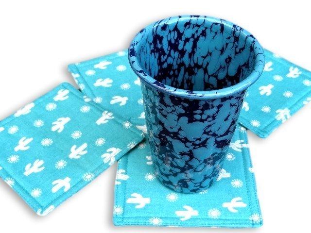 Southwestern fabric coaster set