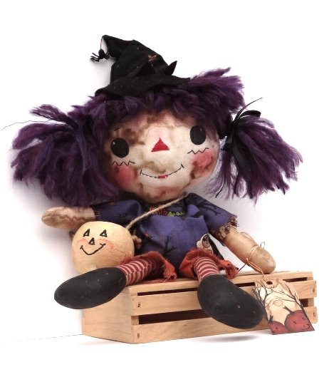 halloween rag doll sitting
