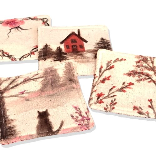 Hand painted coaster set