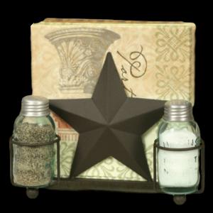 Star salt & pepper and napkin holder