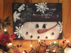 Snowman lite canvas